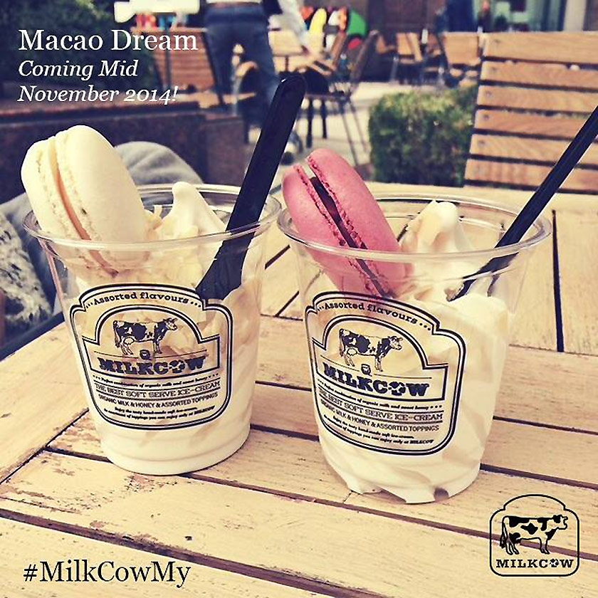 ... with the soft serve ice-cream — Picture courtesy of Milkcow Malaysia
